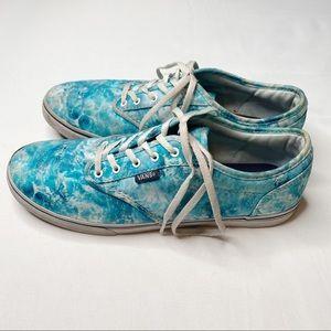 Vans Blue Water Color Look Women's Size 9